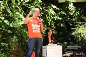 DMM英会話5周年記者発表会