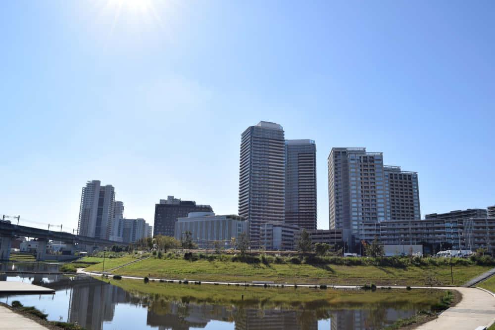 Suburban residental area in Kashiwa City, Chiba Prefecture, Japan